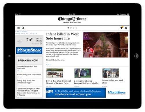 Tribune Newspaper Co developing tablet for subscribers